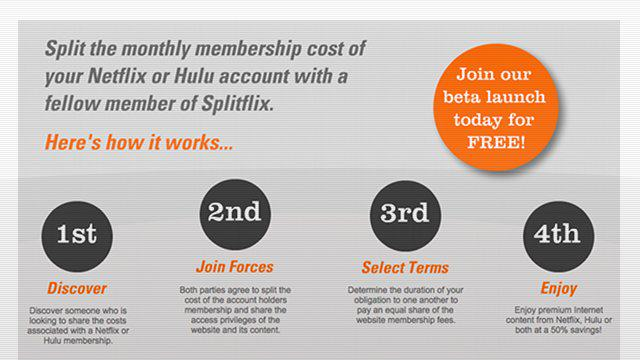 Split your Netflix and Hulu+ Costs in Half: Introducing Splitflix