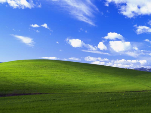 This famous green hill and blue sky have greeted millions of XP users for the past 12 years.