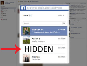 Facebook Hides Some Messages Sent to You
