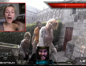 Watch Players Control a Real Man Defeating Zombies Live