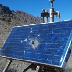 Broken Solar Panel